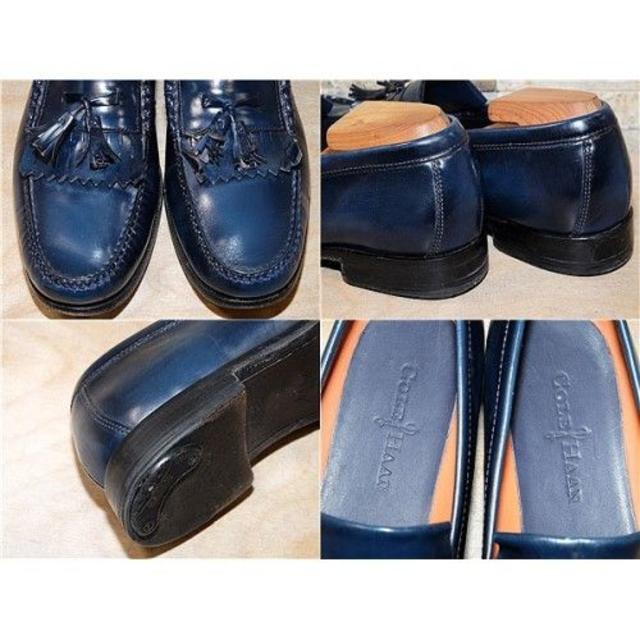 Cole Haan(コールハーン)の訳アリ コールハーン タッセルローファー ネイビー 27,5cm メンズの靴/シューズ(スリッポン/モカシン)の商品写真