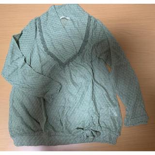 axes femme - axes femme ★モスグリーン セーター 裾リボン