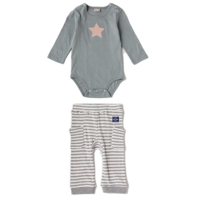 petit main(プティマイン)のやわらかパンツセットアップ 70 キッズ/ベビー/マタニティのベビー服(~85cm)(その他)の商品写真