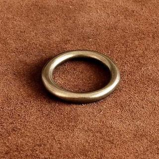 真鍮製 指輪 19号 (Mサイズ)リング パーツ アクセサリー ゴールド(リング(指輪))