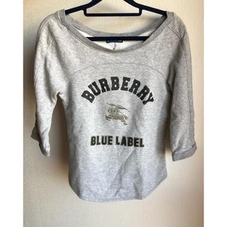 バーバリーブルーレーベル(BURBERRY BLUE LABEL)のバーバリーブルーレーベル ロゴ  ホースマーク  トレーナー(カットソー(長袖/七分))