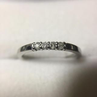 美品 Pt900 ダイヤモンド  指輪  総重量2.4g(リング(指輪))
