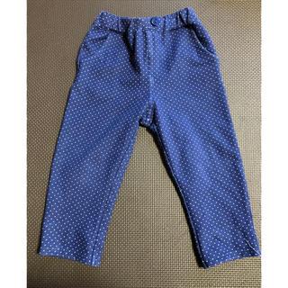 サンカンシオン(3can4on)の水玉ズボン パンツ 青 ブルー(パンツ/スパッツ)