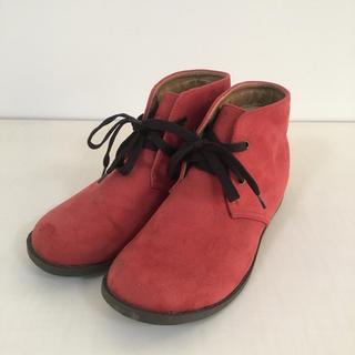 レースアップシューズ/靴/ブーツ/オレンジ/L/24cm(ブーツ)