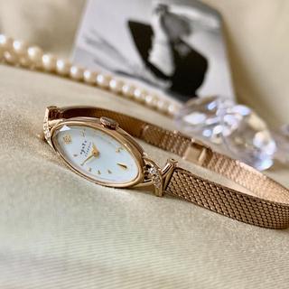 アガット(agete)の美品✨電池交換クリーニング済み agete アガット レディース時計K10ダイヤ(腕時計)