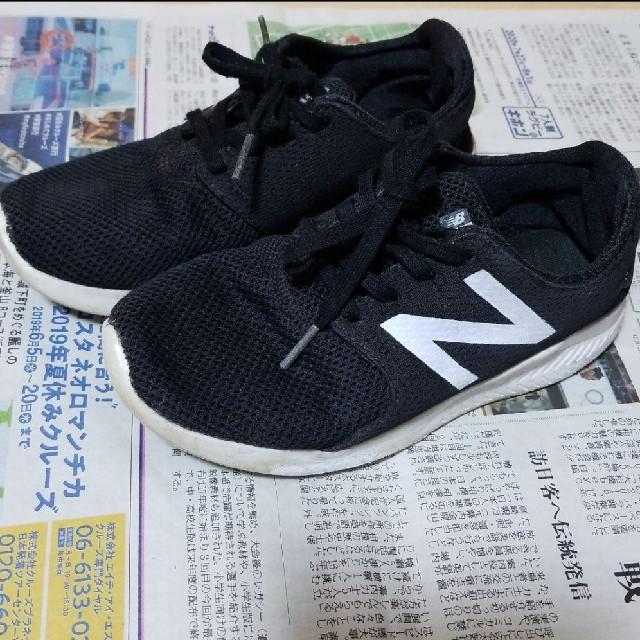 New Balance(ニューバランス)のニューバランス スニーカー 黒 キッズ/ベビー/マタニティのベビー靴/シューズ(~14cm)(スニーカー)の商品写真