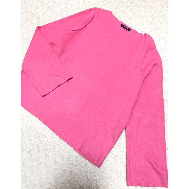 ZARA(ザラ)のZARA ニットソー ピンク レディースのトップス(カットソー(長袖/七分))の商品写真
