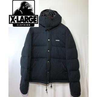 XLARGE - X-LARGE エクストララージ スモールBOXロゴ ダウンジャケット 黒 M