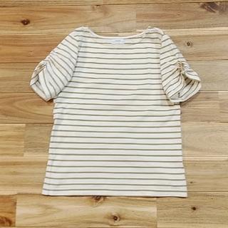 グリーンレーベルリラクシング(green label relaxing)の袖リボンTシャツ(Tシャツ/カットソー)
