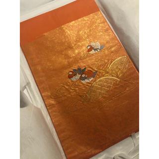 オレンジ色 名古屋帯(帯)