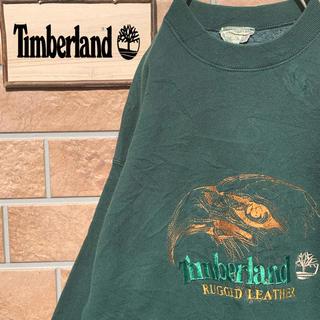 ティンバーランド(Timberland)の【超激レア!!】90s ティンバーランド スウェット トレーナー デカロゴ 刺繍(スウェット)