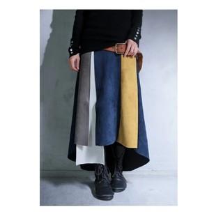 アンティカ(antiqua)のサリー様専用♥antiqua 完売品 フェイクスエード配色スカート(ロングスカート)