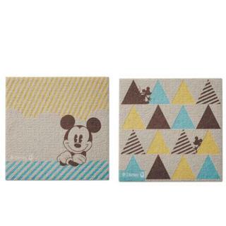 ディズニー(Disney)の千趣会 ディズニー ピタッとタイルマット(6枚組) ミッキーさんかく(カーペット)