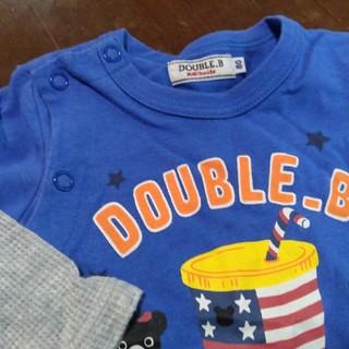 DOUBLE.B - 中古■ミキハウス ダブルB ロンパース 80