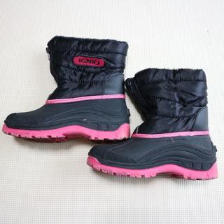 IGNIO女の子21cmスノーブーツ/雪用長靴/イグニオ