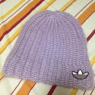 アディダス(adidas)の♥adidas新品ふわふわニット帽♥(ニット帽/ビーニー)