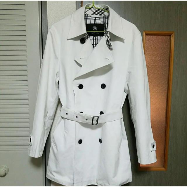 BURBERRY BLACK LABEL(バーバリーブラックレーベル)の美品 バーバリー トレンチコート M ホワイト クレストブリッジ メンズのジャケット/アウター(トレンチコート)の商品写真