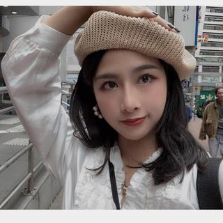 dholic - 新品 韓国 オルチャン ニットベレー帽 ベージュ