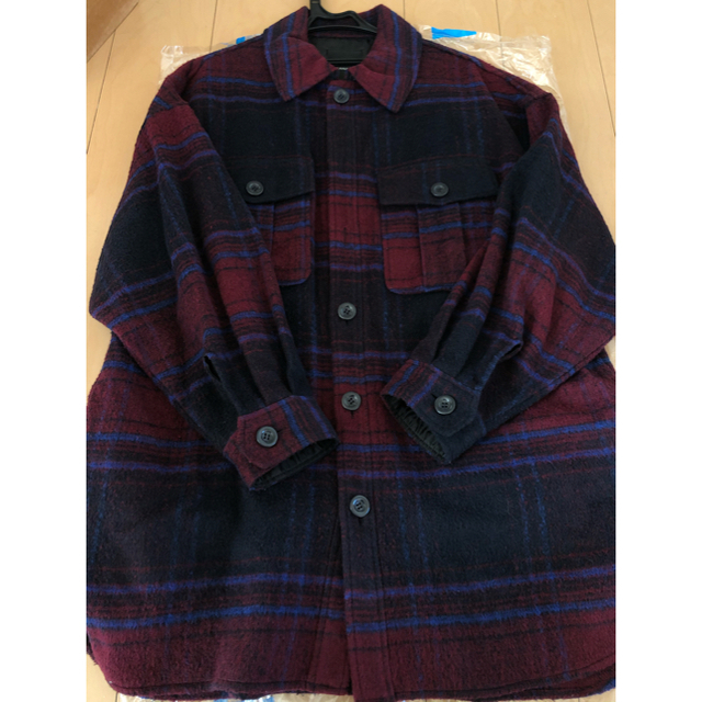 JEANASIS(ジーナシス)のシャギーbigシャツコート ジーナシス jeanasis レディースのジャケット/アウター(その他)の商品写真