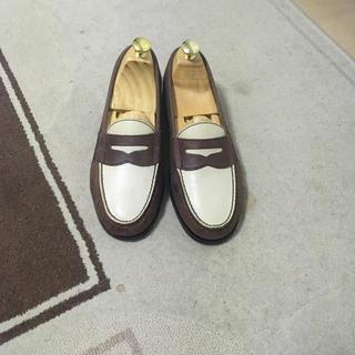 コールハーン(Cole Haan)のコンビローファー 茶色 革靴 24.5 コールハーン Colehaan(ドレス/ビジネス)