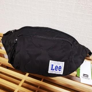 リー(Lee)の【新品】Lee ウエストポーチ キルティング ボディバッグ ブラック(ボディバッグ/ウエストポーチ)