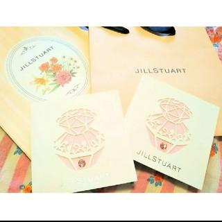 ジルスチュアート(JILLSTUART)のJILLSTUARTメッセージカード2枚セット➕ショッパー2枚(ノベルティグッズ)