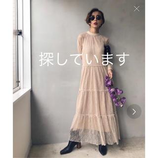 アメリヴィンテージ(Ameri VINTAGE)のameri VINTAGE SHIRRING SHEER DRESS(ロングドレス)