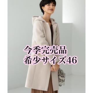 green label relaxing - 新品今季完売品サイズ46ノーカラーフードコート ナチュラル定価27500円