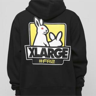 XLARGE - XLARGE FR2 コラボ パーカー ブラック M
