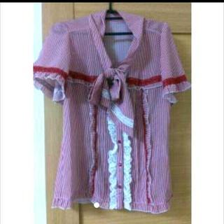 アクシーズファム(axes femme)のストライプシャツ(シャツ/ブラウス(半袖/袖なし))