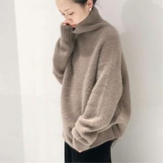 Plage - 新品タグ付 Plage Fur タートル プルオーバー◆グレーB