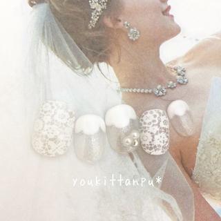 サムデイ*ネイルチップ 付け爪 つけ爪 結婚式 ブライダル ウェディング 白無垢(ネイルチップ)