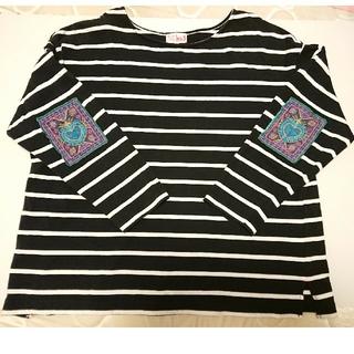 titicaca - チチカカ 長袖ボーダーシャツ ムーチョサイズ 15号 古着