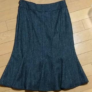 M-premier - エムプルミエ 34 スカート マーメイド 黒 ブラック ウール 冬