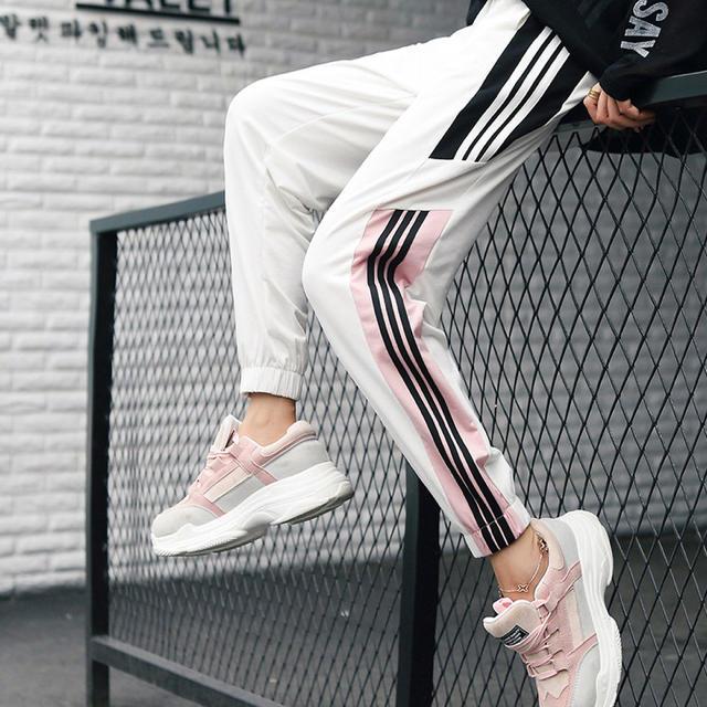 adidas(アディダス)のadidas風 ラインパンツ ジャージ スウェット スキニー  レディースのパンツ(カジュアルパンツ)の商品写真