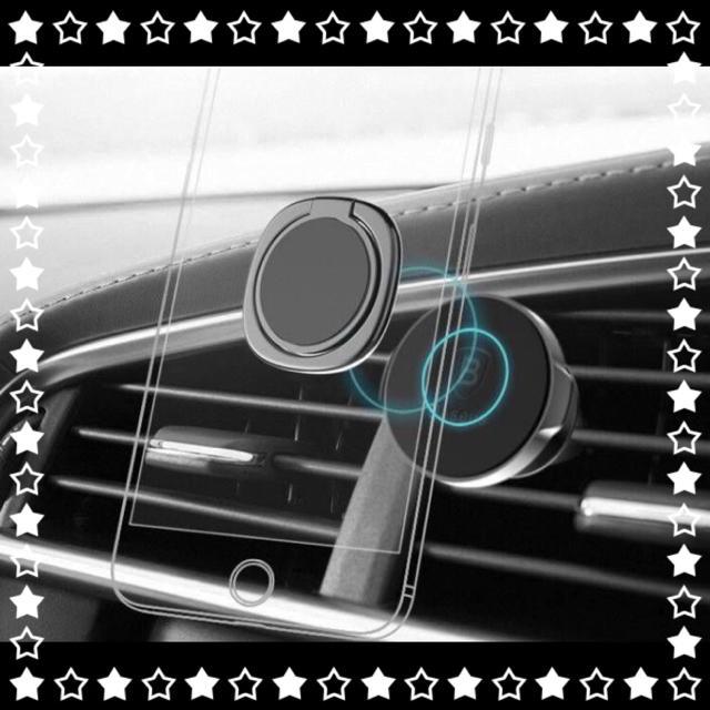 SALE スマホリング バンカーリング 落下防止 シルバー ホールドリング 激安 スマホ/家電/カメラのスマホアクセサリー(その他)の商品写真