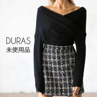 デュラス(DURAS)のDURAS オフショルクロストップ ニット(ニット/セーター)