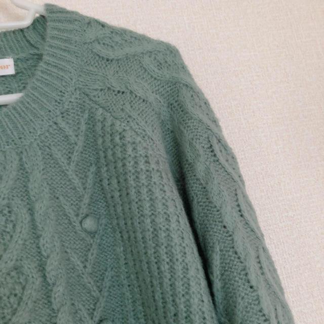 Kastane(カスタネ)の古着 水色 ぽんぽんやわらかニットセーター レディースのトップス(ニット/セーター)の商品写真