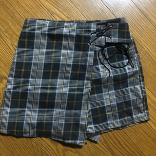 編み上げチェックパンツ(ショートパンツ)