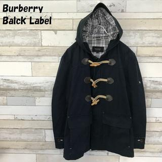 バーバリーブラックレーベル(BURBERRY BLACK LABEL)のバーバリーブラックレーベル ダッフルコート ネイビー ノバチェック柄 サイズM(ダッフルコート)