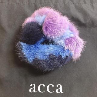 acca - acca★アッカ★ミンクファー シュシュ★ネイビー・ブルー系