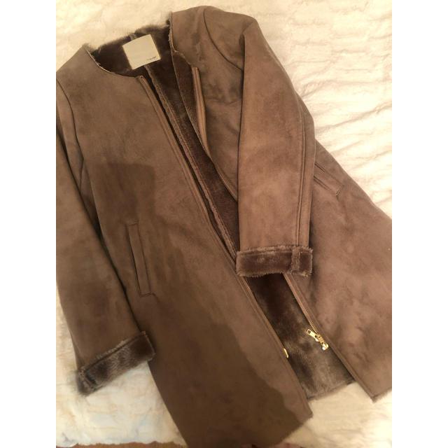 URBAN RESEARCH(アーバンリサーチ)のアーバンリサーチ SonnyLabel ノーカラーコート レディースのジャケット/アウター(ロングコート)の商品写真