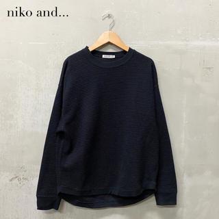 niko and... - 【niko and...】ワッフル サーマル カットソー ブラック ニコアンド