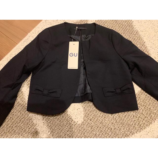 GU(ジーユー)の新品 110cm フォーマル  ジャケット 黒 GU キッズ/ベビー/マタニティのキッズ服女の子用(90cm~)(ジャケット/上着)の商品写真