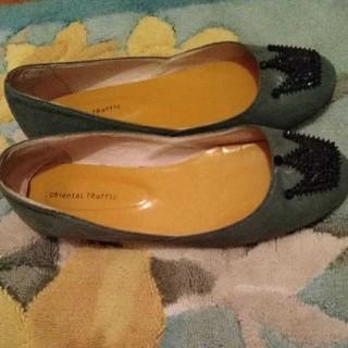 オリエンタルトラフィック(ORiental TRaffic)のオリエントトラフィック シューズ モスグリーン 25センチ(ローファー/革靴)