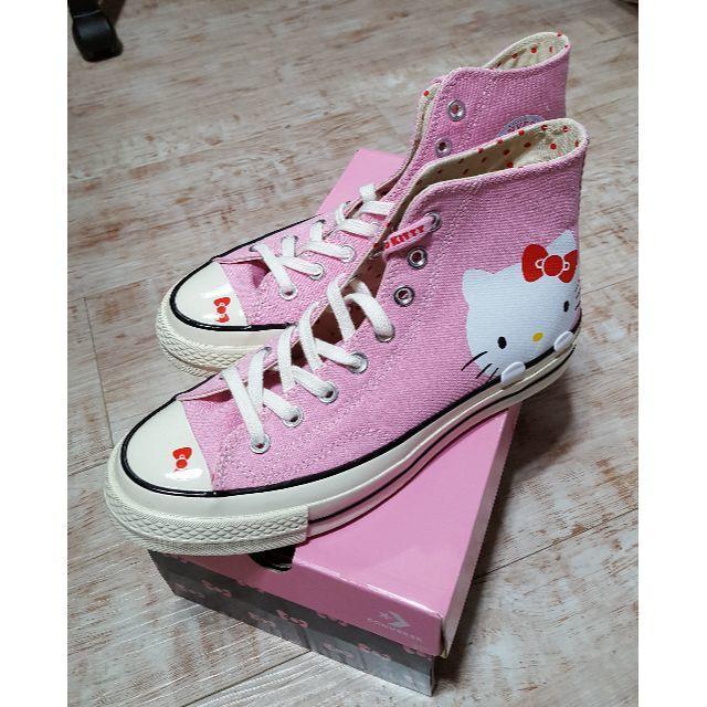 CONVERSE(コンバース)の海外限定 コンバース×ハローキティ 25cm レディースの靴/シューズ(スニーカー)の商品写真