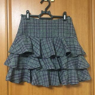 アトリエサブ(ATELIER SAB)のatelier sub チェックスカート(ひざ丈スカート)