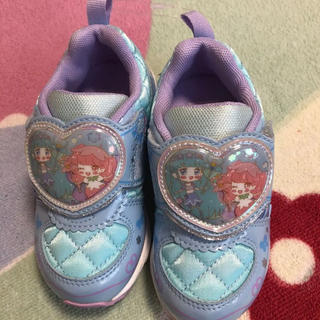 サンリオ - 新品 リルリルフェアリル 16 スニーカー 女の子 16.0 水色 運動靴 女児