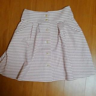 グローブ(grove)のフロント ボタン スカート(ひざ丈スカート)