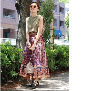 Ungrid - 美品 Ungrid 民族フォークロア エプロン ラップスカート
